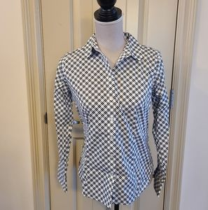 Talbots Non Iron Button Down Blouse